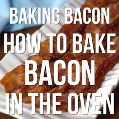 Baking Bacon: How to Bake Bacon in the Oven. Bake bacon and save yourself from splattered grease burns. Each piece comes out perfectly every time,. Baked Breakfast Recipes, Breakfast Bake, Breakfast Dishes, Breakfast Casserole, Breakfast Cooking, Breakfast Ideas, Cooking Bacon, Fun Cooking, Cooking Recipes