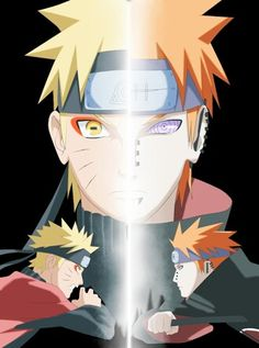 Naruto Uzumaki and Pain