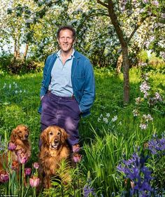 to turn your garden into a wildlife haven Monty Don (pictured in his orchard with his dogs) shared advice for designing a garden tha.Monty Don (pictured in his orchard with his dogs) shared advice for designing a garden tha. Meadow Garden, Woodland Garden, Dog Garden, Garden Pests, Garden Art, Monty Don Longmeadow, Back Garden Design, Garden Styles, Garden Projects