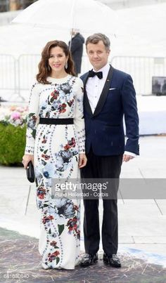 Crown Prince Frederik and Princess Mary at the Opera House celebrating the 80th birthday of Norway's King & Queen with a Gala Banquet, May 10, 2017