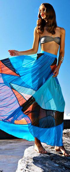 Suboo' quilla qua maxi skirt