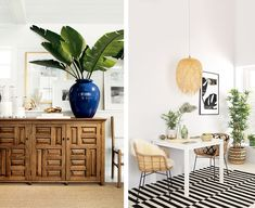 In time for summer, we bring back the popular tropical trend with a twist. Tropical Interior, Tropical Decor, Tropical Prints, 2018 Interior Trends, Decor Interior Design, Interior Decorating, Hawaiian Homes, Unique Home Decor, Style Guides