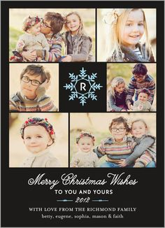Monogram Snowflake Christmas Card