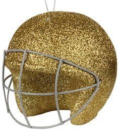 "4"" Football Helmet #gold #helmet #football #ornament"