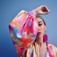 """All is an illusion. But we love the colors! Ft.The """"kaleidoscope"""" kimono Photo and styling @elizabeth_karatsoki"""