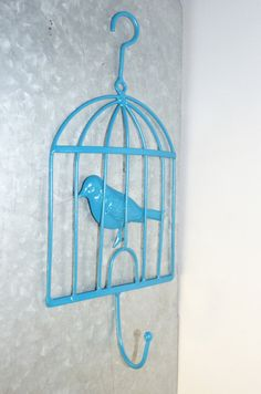 Wall Decor Birdcage Wall Hook Clothes Hook by LittleShopofPop