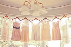 Each bridesmaid picks a different shade of pink! Can't wait to see what they all choose.