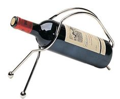 Peugeot PW240141 Universel Decanting Cradle, Nickle-Plated by Peugeot. $55.00. Gift Boxed. Made of nickel-plated spring steel. Appropriate for standard (750 ml) and magnum (1.5L) wine bottles. This nickel-plated, spring steel bottle cradle is just right to serve fragile, higher quality, mature red wines. By holding the bottle in a semi-horizontal position, the wine and its sediment can be separated at the time of pouring. Will hold a standard 750ml bottle of wine.