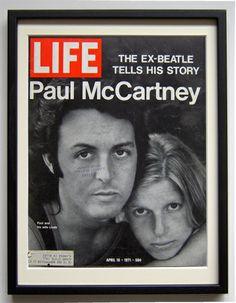 「LIFE」誌 1970年代「ポール&リンダ マッカートニー」額装 - A Store Seam|ア ストア シーム