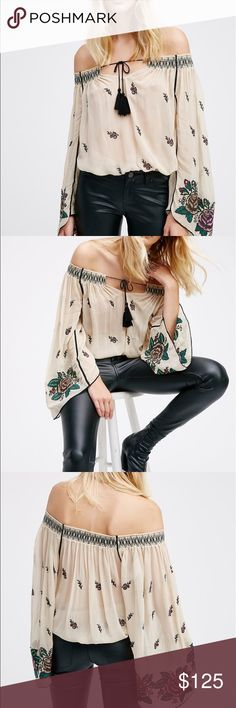 Free People Fork Forest Top This is a great top you can wear it off the shoulders or on it works both ways and one of my favorites a must have Free People Tops Blouses