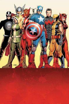La nueva alineación de Uncanny Avengers >> Definitivamente esto es una nueva era!