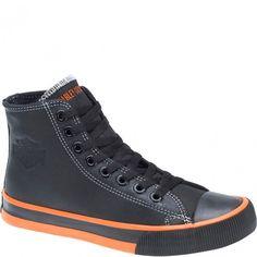 83811 Harley Davidson Women's Flora Casual Shoes - Orange/Black www.bootbay.com