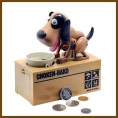 1 Piece Robotic Dog Banco Canino Money Box Money Bank Automatic Stole Coin Piggy Bank Money Saving Box Moneybox Gifts for kid