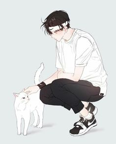 Shared by Archive_kun. Find images and videos about boy, art and anime on We Heart It - the app to get lost in what you love. Anime Oc, Manga Anime, Art Manga, Anime Neko, Drawn Art, Image Manga, Anime Kunst, Boy Character, Estilo Anime