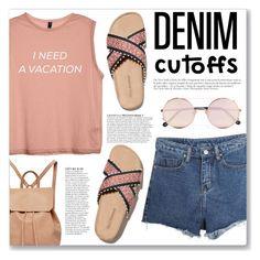 """Summer Staple: Denim Cutoffs"" by myduza-and-koteczka ❤ liked on Polyvore featuring Momewear, Babette, Anja, Sunday Somewhere and Urban Originals"