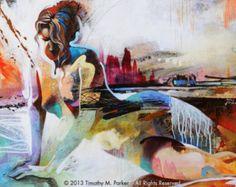 Figura astratta arte • figura pittura riproduzione • figura spettrale • Contemporary Fine Art Print