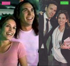 jason david frank and amy jo johnson to jason david frank and amy jo johnson from katie crow you are my favorite power rangers Amy Jo Johnson, Kimberly Power Rangers, Pink Ranger Kimberly, Green Power Ranger, Pink Power Rangers, Power Rangers Season 1, Jason David Frank, Kimberly Hart, Tommy Oliver