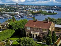 Seattle.  North Queen Anne hill looking across Lake Union to Gasworks Park... Oh how I dream of living here.