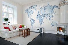 Hey, look at this wallpaper from Rebel Walls, Water World! #rebelwalls #wallpaper #wallmurals