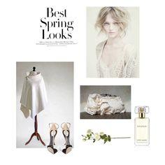 Spring... by mdrozd on Polyvore featuring moda, René Caovilla, Estée Lauder, OKA, Alberta Ferretti and H&M