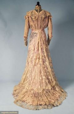 Belle epoch lace tea gown c.1900