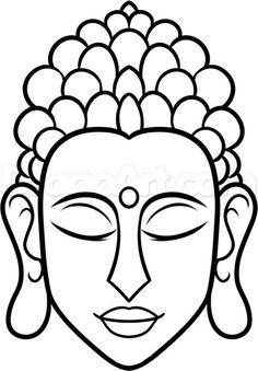 How to draw buddha easy step 7 buddha drawing, buddha painting, ganesha drawing, Buddha Drawing, Ganesha Drawing, Buddha Painting, Buddha Kunst, Buddha Art, Buddha Lotus, Buddha Head, Folk Embroidery, Embroidery Designs