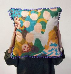 Unique Printed Cushion Cover with Abstract by esthersandler @Tracey Fox Deese