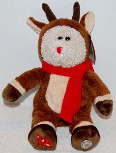 CHECK THIS OUT STARBUCKS BEARISTA 2003 CHRISTMAS RUDOLPH REINDEER PLUSH STUFFED ANIMAL NWT