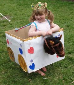 Sun Hats & Wellie Boots: When is a box not a box... when it's a Princess Carriage! This site has lots and lots of creative ideas and up cycled crafts.