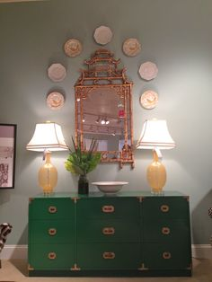 Great vignette with campaign chest by Parker Kennedy