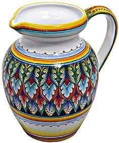 Ceramic Majolica Pitcher - Vario style