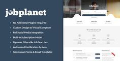 Jobplanet v1.1.0 is a full stack job board / portal theme for WordPress. Unlike other themes that require you to buy other plugins to build a full functioning site, Jobplanet just works. No need to buy anything else, Jobplanet works on its own, check out our demo site to see for yourself....
