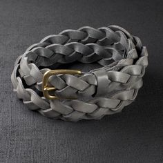 Leather Grey Weave