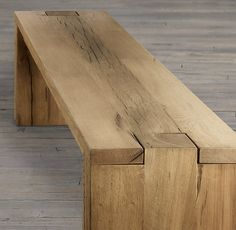 Parsons Reclaimed Russian Oak Benches | Wooden Chairs | Restoration Hardware