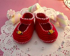 CROCHET BABY Shoes PATTERN Little Lilly baby shoes Pattern