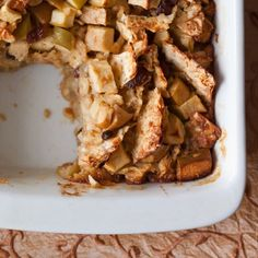 "Apple-Matzoh Kugel: Pudding/dessert ~ ""I made this for the first seder ..."