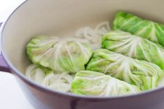 Flavorful cabbage rolls, stuffed with beef, pork, and farro, and braised in a savory tomato broth until melt-in-your-mouth tender.