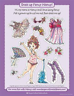 Fancy Nancy Paper Doll - Printable Fashion Activity   Fancy Nancy Printable Activities   FancyNancyWorld.com