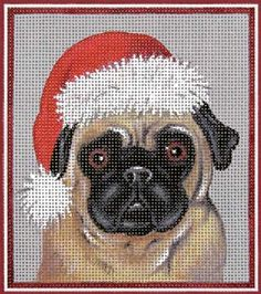 Melissa Shirley Designs | Hand Painted Needlepoint | Mary's Christmas