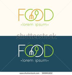 Find Modern Minimalistic Vector Logo Food Vector stock images in HD and millions of other royalty-free stock photos, illustrations and vectors in the Shutterstock collection. Resturant Logo, Restaurant Logo Design, Food Logo Design, Logo Food, Logo Minimalista, Cafe Logo, Branding, Food Drawing, Design Graphique