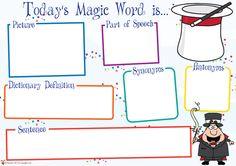 Teacher's Pet Displays » Today's Magic Word Mat » FREE downloadable EYFS, KS1, KS2 classroom display and teaching aid resources