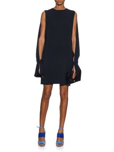 Osman Poppy cut-out crepe dress