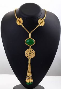 Handmade Silver Huyam Sultana Kazaz Necklace with Root Emerald. Kazaz Technique is used for its made. Traditional Turkish Handmade Jewelry Technique used. Wire Jewelry, Jewelery, Silver Jewelry, Tassel Necklace, Pendant Necklace, Turkish Jewelry, Handmade Silver, Jewelry Stores, Fashion Accessories
