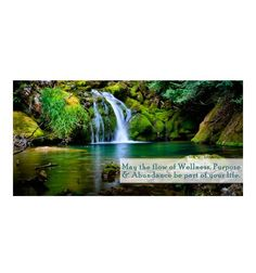 Wellness Purpose & Abundance Waterfall (Repositionable Wall Graphic)