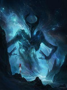 Dark Fantasy Art, Fantasy Artwork, Fantasy Concept Art, Dark Art, Dark Creatures, Fantasy Creatures, Mythical Creatures, Fantasy Monster, Monster Art