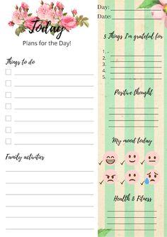 Free Daily Planner Bundle For Positive Mindset Free Planner, Printable Planner, Free Printables, Positive Mindset, Positive Thoughts, Free Calendar, Im Grateful, Planner Inserts, Positivity