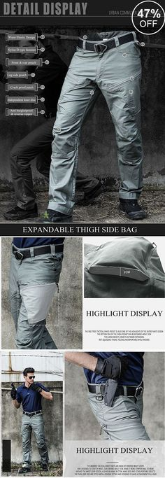 42bc2edc6a Muti-Pockets Pants  Water-repellent Tactical Training Pants  outdoor  men