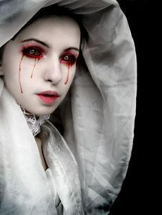 Image result for possessed halloween makeup