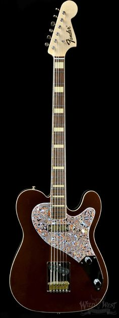 Fender Baritone NOS Dennis Galuszka Masterbuilt Brown Metallic NAMM 2015 - Wild West Guitars
