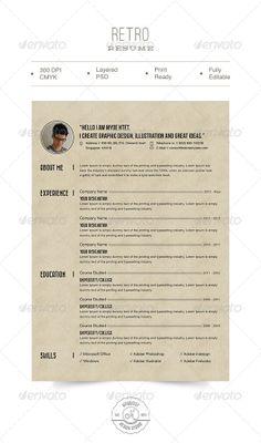 Retro Resume